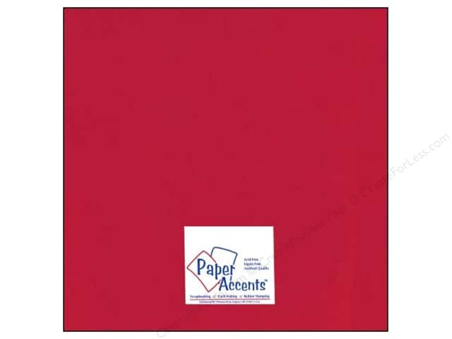 Paper Accents Cardstock 12 x 12 in. Glossy Red (25 sheets)
