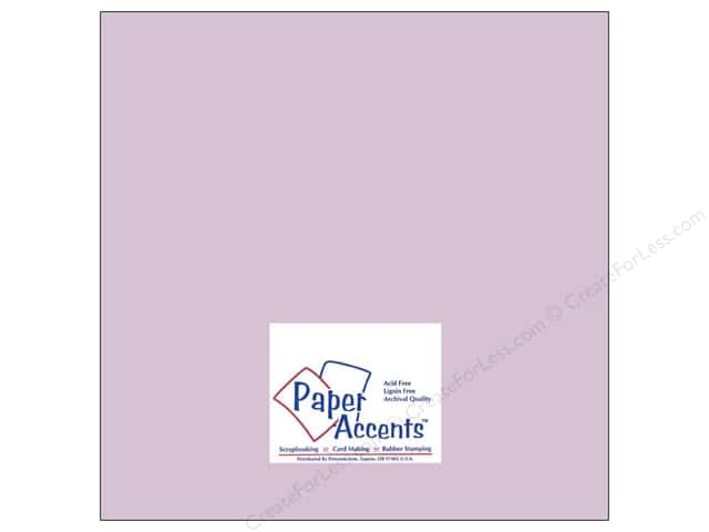 Paper Accents Cardstock 12 x 12 in. #8054 Muslin Purple Palisades (25 sheets)