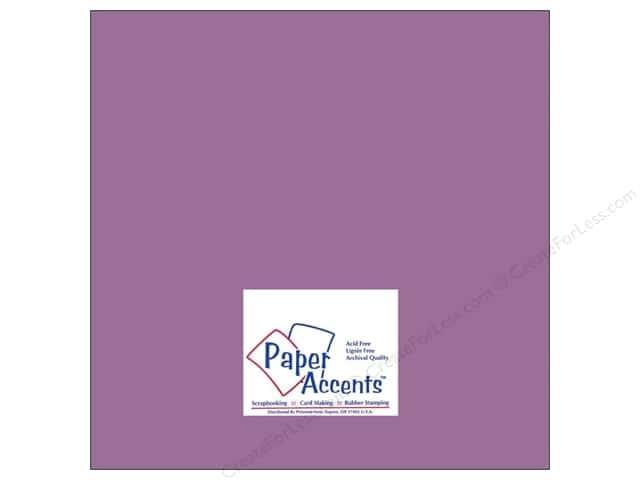 Paper Accents Cardstock 12 x 12 in. #8056 Muslin Purple Pizzaz (25 sheets)