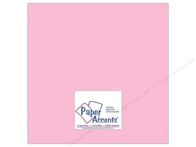 Cardstock 12 x 12 in. #8063 Muslin Tickled Pink by Paper Accents (25 sheets)