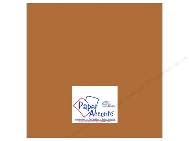 Paper Accents Cardstock 12 x 12 in. #8066 Muslin Cinnamon Stick (25 sheets)
