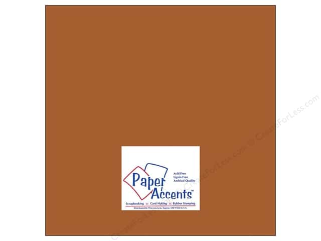 Paper Accents Cardstock 12 x 12 in. #8067 Muslin Truffle (25 sheets)