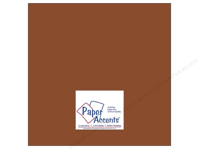 Cardstock 12 x 12 in. #8068 Muslin Mocha Divine by Paper Accents (25 sheets)