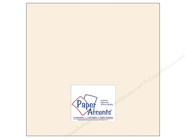 Cardstock 12 x 12 in. #8069 Muslin French Vanila by Paper Accents (25 sheets)