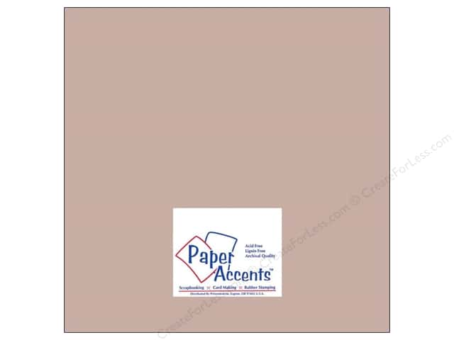 Cardstock 12 x 12 in. #8074 Muslin Stonehenge by Paper Accents (25 sheets)