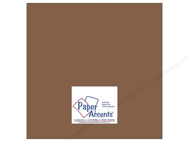 Cardstock 12 x 12 in. #8076 Muslin London Fog by Paper Accents (25 sheets)