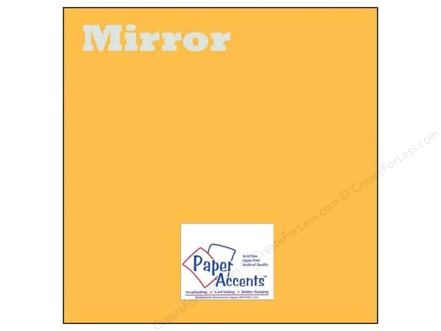 Cardstock 12 x 12 in. Mirror Gold by Paper Accents (25 sheets)