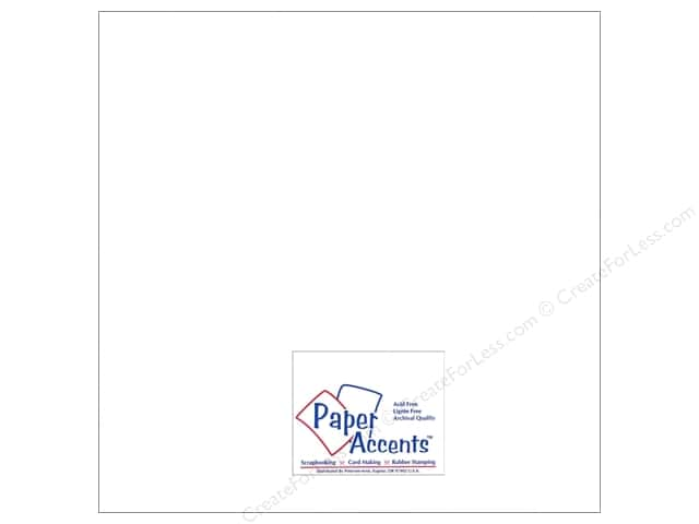 Cardstock 12 x 12 in. #8081 Muslin Bright White by Paper Accents (25 sheets)