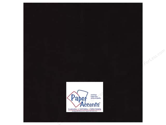Cardstock 12 x 12 in. #8082 Muslin Deep Black by Paper Accents (25 sheets)