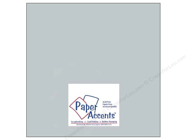 Cardstock 12 x 12 in. #897C Pearlized Slate by Paper Accents (25 sheets)