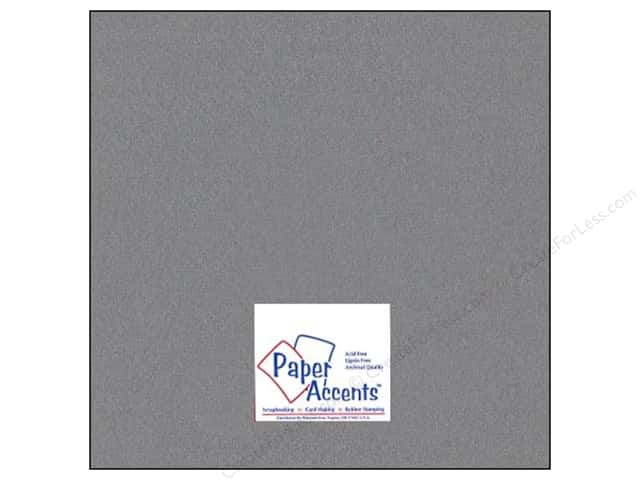 Pearlized Paper 12 x 12 in. #898 Graphite by Paper Accents (25 sheets)