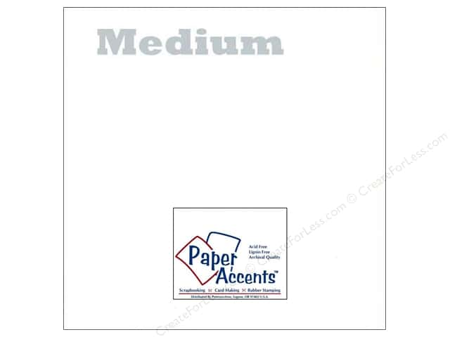 Paper Accents Vellum 12 x 12 in. 29 lb. Medium Weight White (25 sheets)