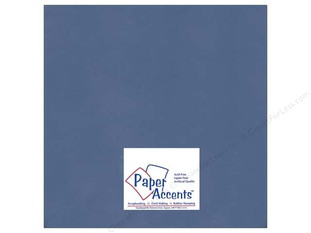 Paper Accents Cardstock 12 x 12 in. #92 Smooth Adriatic Blue (25 sheets)