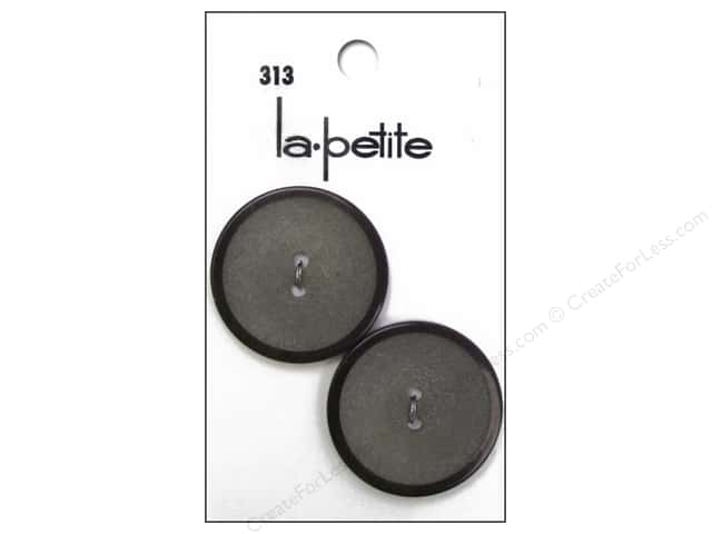 LaPetite 2 Hole Buttons 1 1/8 in. Brown #313 2 pc.