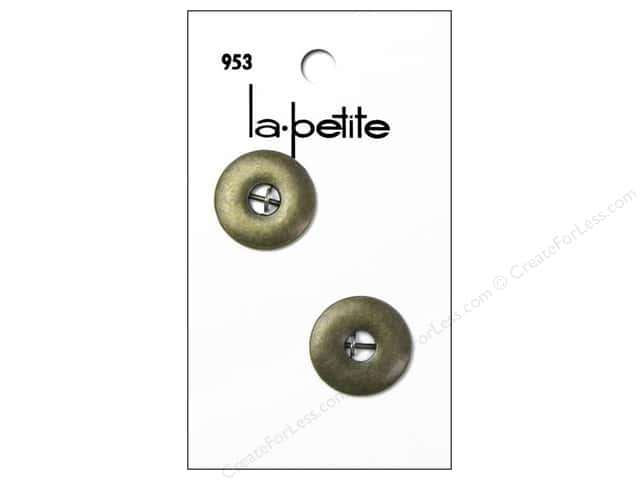 LaPetite 2 Hole Buttons 3/4 in. Brass #953 2 pc.
