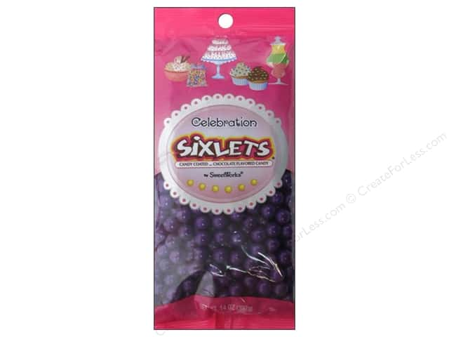 SweetWorks Celebration Sixlets 14 oz. Dark Purple