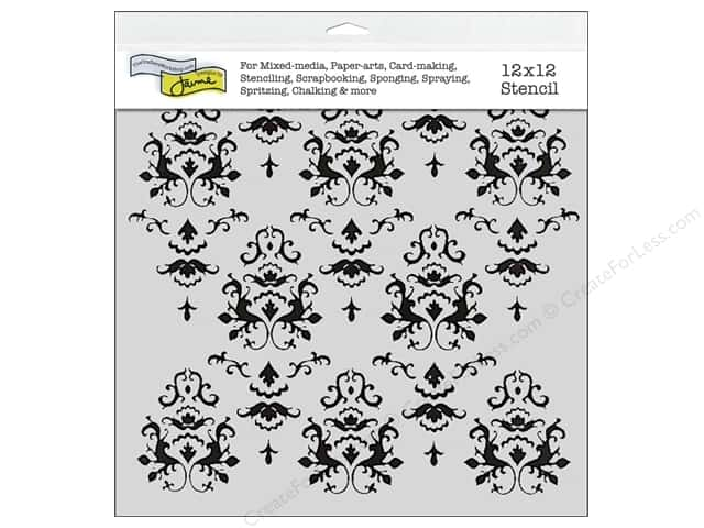 The Crafter's Workshop Template 12 x 12 in. Damask
