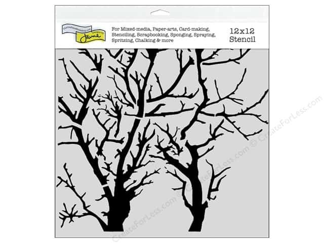 The Crafter's Workshop Template 12 x 12 in. Branches Revised