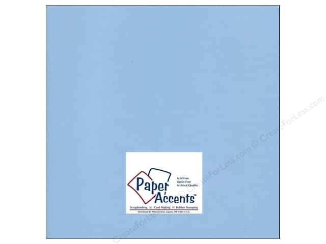 Cardstock 12 x 12 in. #96 Smooth Blue Willow by Paper Accents (25 sheets)