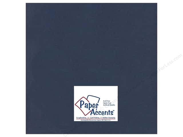 Cardstock 12 x 12 in. #98 Smooth Navy Blue by Paper Accents (25 sheets)