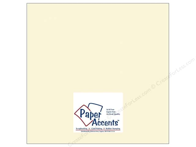 Cardstock 12 x 12 in. #119 Smooth Cream by Paper Accents (250 sheets)