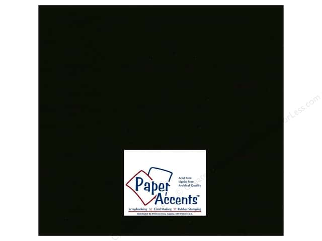 Paper Accents Cardstock 12 x 12 in. #127 Smooth Black (250 sheets)