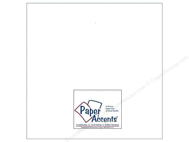 Paper Accents Cardstock 12 x12 in. #128 Smooth White (250 sheets)