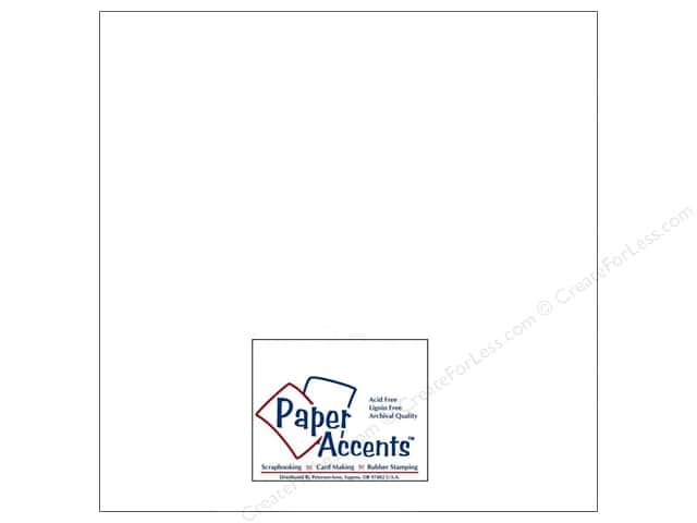 Paper Accents Cardstock 12 x12 in. #129 Smooth Matte White (250 sheets)