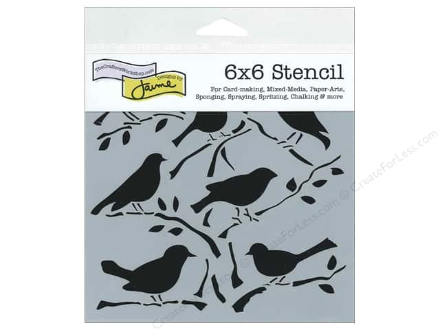 The Crafter's Workshop Template 6 x 6 in. Birds