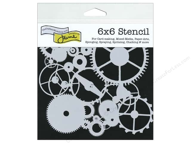 The Crafter's Workshop Template 6 x 6 in. Gears