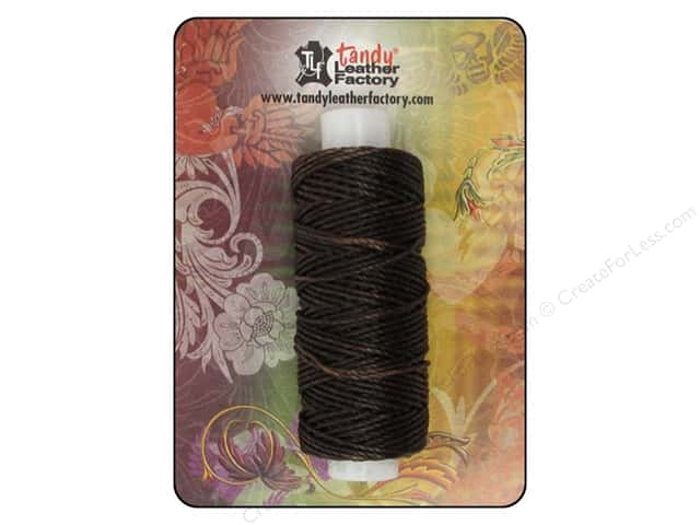 Leather Factory Waxed Thread 25yd Brown 25yd
