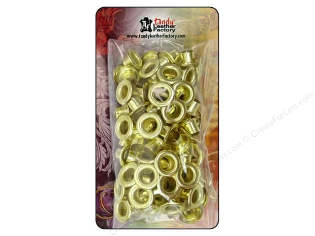 Leather Factory Eyelet 1/4 in. Brass 100 pc.