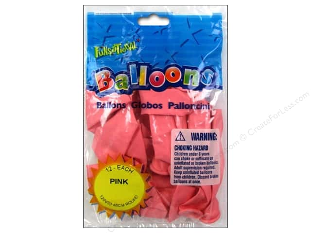"Pioneer National Latex Balloons Funsational Deco 12"" 12pc Pink"