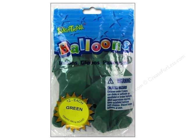 "Pioneer National Latex Balloons Funsational Deco 12"" 12pc Green"