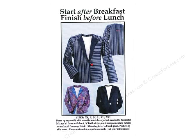 CNT Pattern Co. Start After Breakfast Finish Before Lunch Pattern