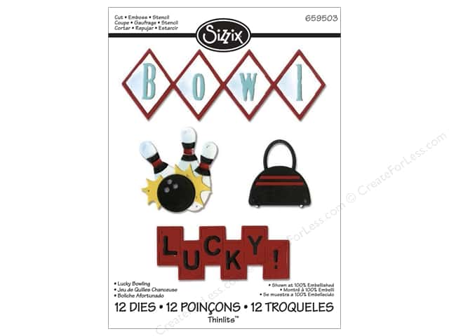 Sizzix Thinlits Die Set 12 pc. Lucky Bowling