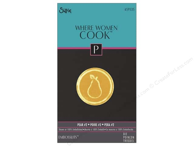 Sizzix Embosslits Die Pear #2 by Where Women Cook