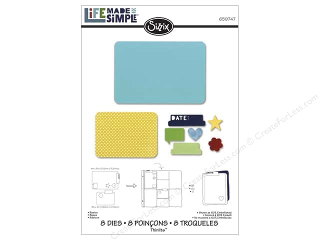 Sizzix Thinlits Die Set 8 pc. Basics