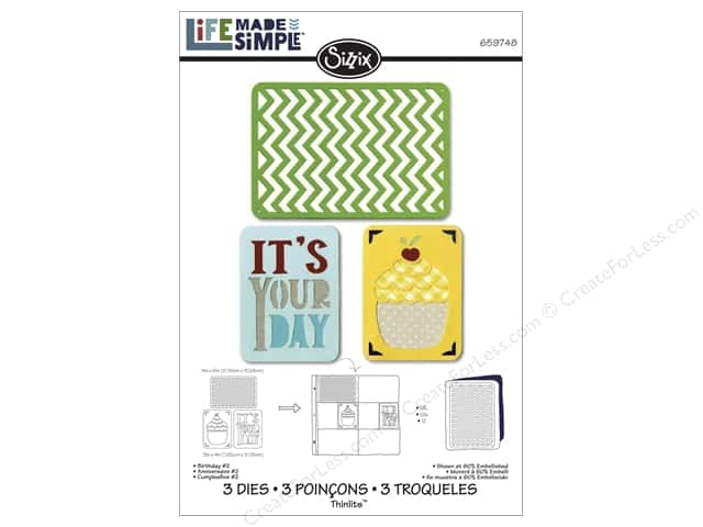 Sizzix Thinlits Die Set 3 pc. Birthday #2