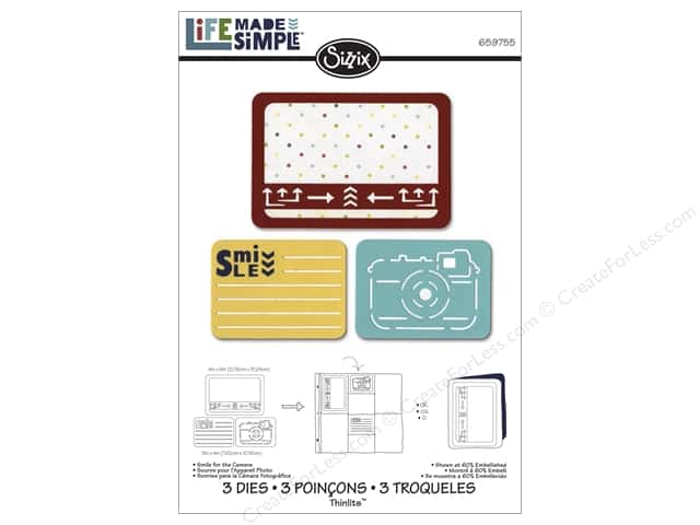 Sizzix Thinlits Die Set 3 pc. Smile For The Camera