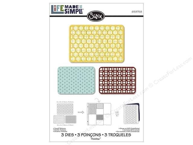 Sizzix Thinlits Die Set 3 pc. Overall Patterns