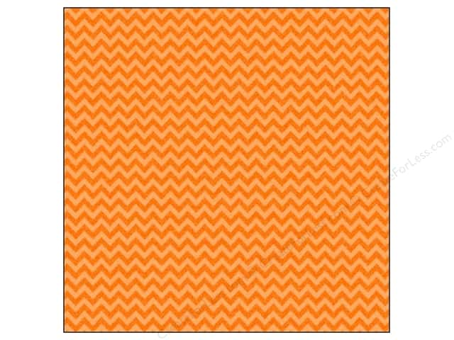 Doodlebug 12 x 12 in. Paper Sugar Coated Chevron Tangerine (25 sheets)