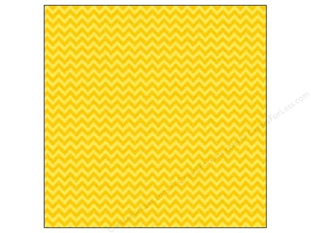 Doodlebug 12 x 12 in. Paper Sugar Coated Chevron Bumblebee (25 sheets)