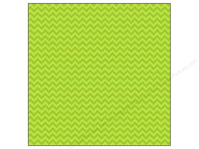 Doodlebug 12 x 12 in. Paper Sugar Coated Chevron Limeade (25 sheets)