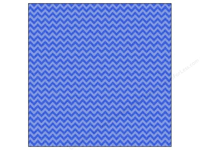 Doodlebug 12 x 12 in. Paper Sugar Coated Chevron Blue Jean