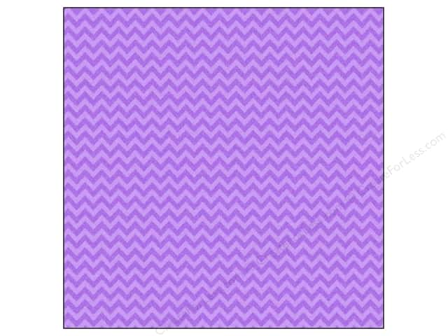 Doodlebug 12 x 12 in. Paper Sugar Coated Chevron Lilac (25 sheets)