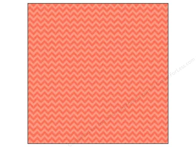 Doodlebug 12 x 12 in. Paper Sugar Coated Chevron Coral (25 sheets)