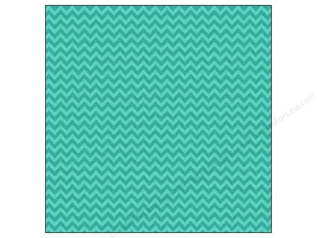 Doodlebug 12 x 12 in. Paper Sugar Coated Chevron Peacock (25 sheets)