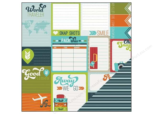 Imaginisce Paper 12x12 Perfect Vacation Away We Go (25 sheets)