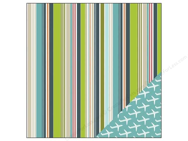 Imaginisce Paper 12x12 Perfect Vacation Random Stripe (25 sheets)